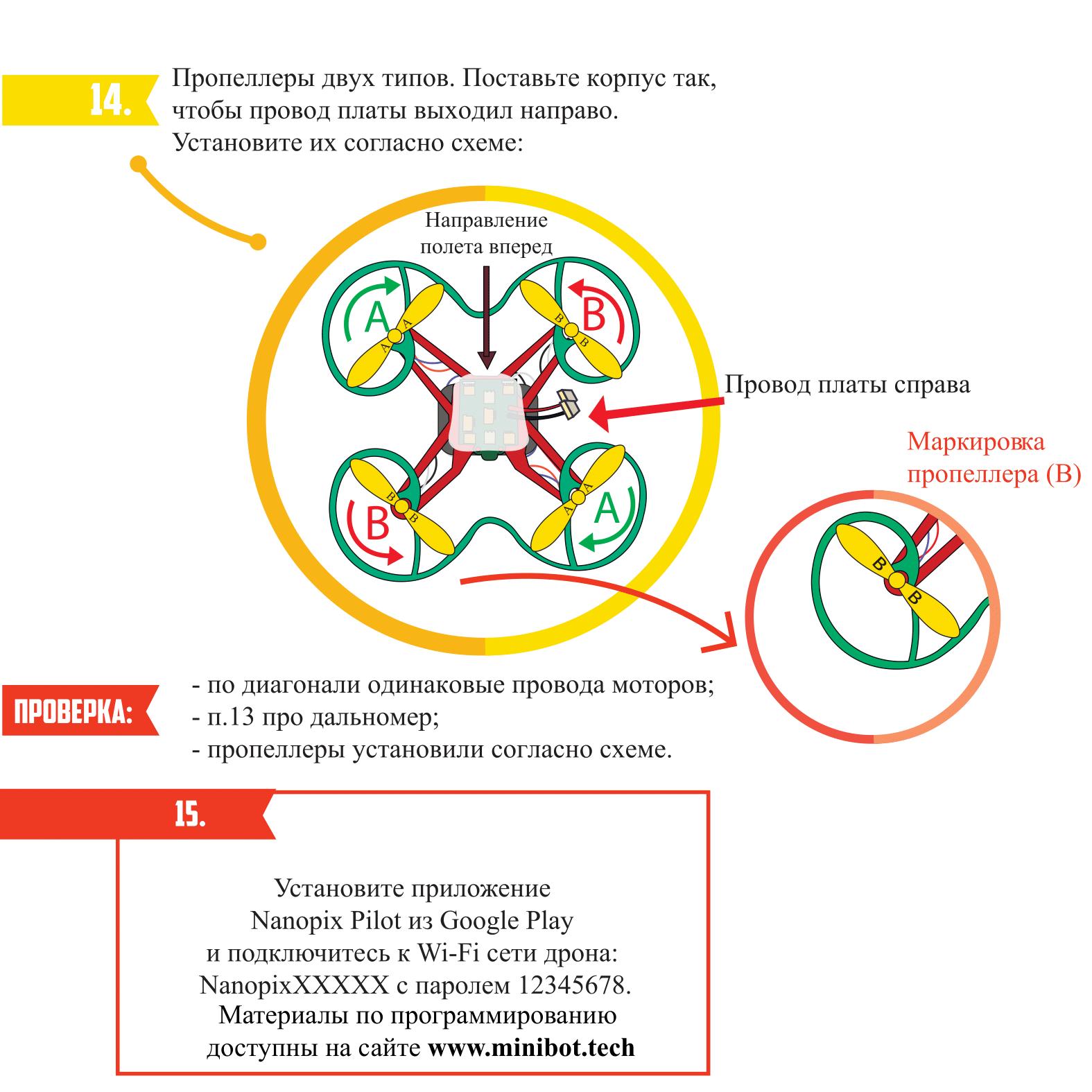 Сборка квадрокоптера Nanopix